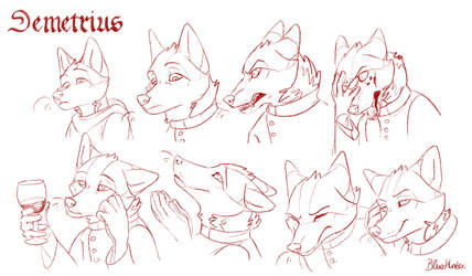 Expression and character study - Demetrius by BlueHunter
