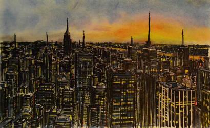 Newyork Skyline by farzaam