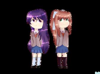 Yuri  y Monika by xxLucy19