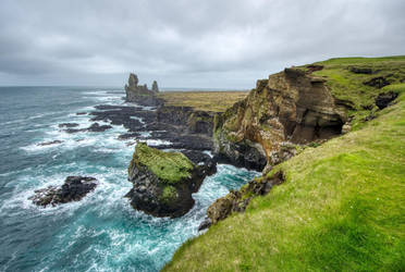 Londrangar Cliffs by rwetzel