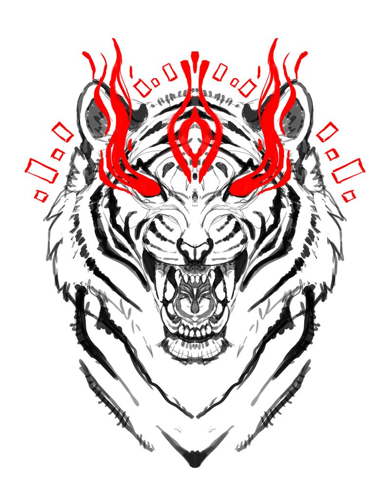 Tiger sketch by Kay-Ra