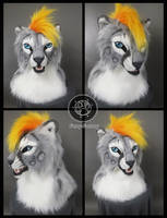 Snow leopard head by Kay-Ra