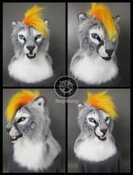 Snow leopard head by Kay-Ra