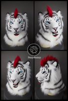 Lorcan white tiger mask by Kay-Ra