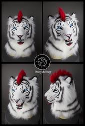 Lorcan white tiger mask by Kay-Ra