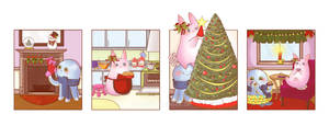 Decorating for Christmas by OctopusandBunny