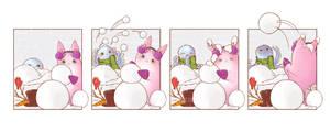 Snowball Fight by OctopusandBunny