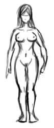 female first sketch by Dorimen