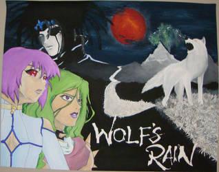 Wolf's Rain poster by macswake
