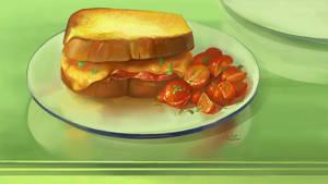 Food - Grilled Cheese Sandwich by Nightblue-art