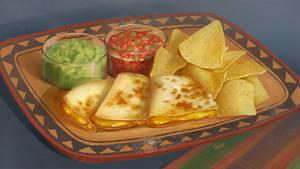 Food - quesadilla by Nightblue-art