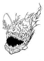 Heavy Metal Angler Fish by Nightblue-art