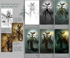God of Oblivion - Progress by Nightblue-art
