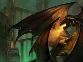 Black Dragon by Nightblue-art