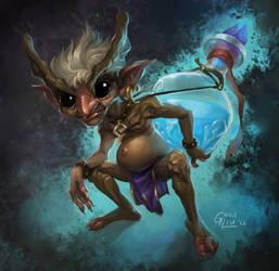 Wizard's Familiar by Nightblue-art