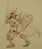 Richard the Skeleton Paladin by Nightblue-art