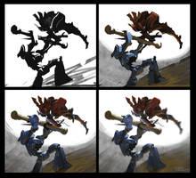 Gladiators - steps by Nightblue-art