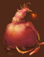 The Fat Phoenix by Nightblue-art