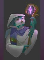 Avian Wizard by Nightblue-art