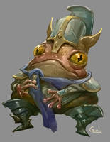 Frog Knight by Nightblue-art