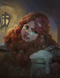 Bearded Dwarf Lady by Nightblue-art