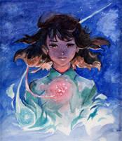 Mitsuha by Nightblue-art