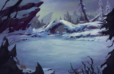 Battle Chasers Night War Background - Wintervein by Nightblue-art