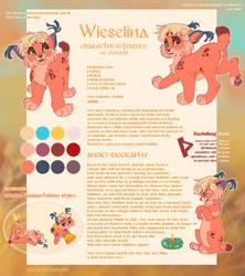 Wieselina - NEW reference sheet 2016 by Oha
