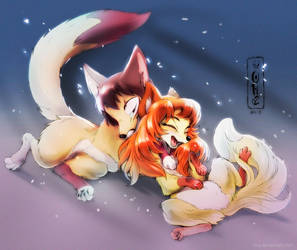 Foxy Cuddles by Oha