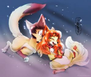 Foxy Hugs by Oha