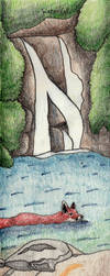 500 Drawing Prompts-Waterfall by desertwind75