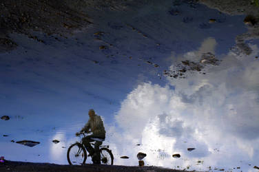 The Man Who Cycled on Sky by AnilTamerYilmazz