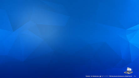 PlayStation Engraved Blue HD Wallpaper by Akio14