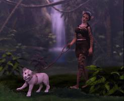 Walking the cub by Dakorillon
