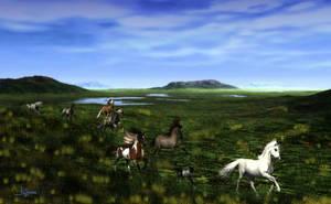 Grasslands Wild Running by Dakorillon