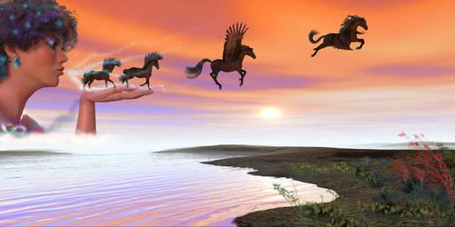 Goddess of Horses by Dakorillon