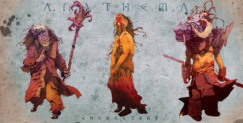 anathema characters color by toniinfante