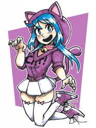 Chibi-ish Cat-ish Marcy by gingrjoke