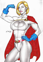 POWERGIRL, ON E-BAY AUCTION NOW !!! by carlosbragaART80