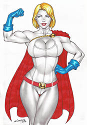 POWERGIRL !!! by carlosbragaART80