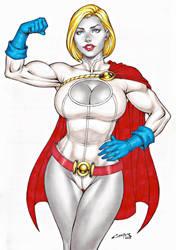 POWER GIRL !!! by carlosbragaART80