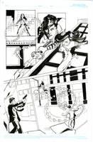 Comic page 1 inks by samshank0453