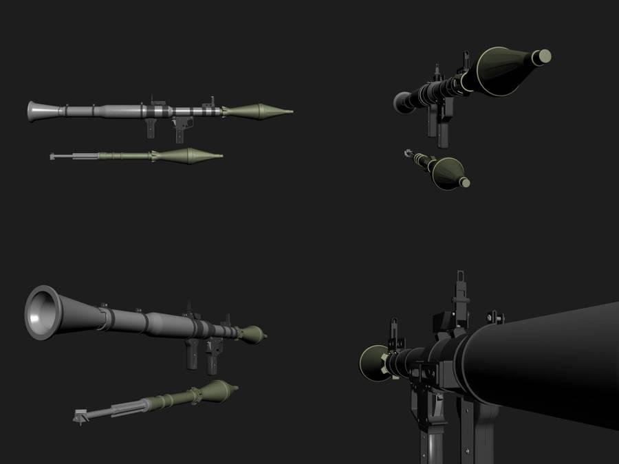 RPG7 3d model by samshank0453