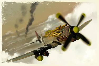 P51 Steampunk by samshank0453