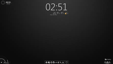 My Win7 Token Styled Desktop. by Kauppinen90