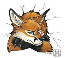 Stuck Fox by TaniDaReal
