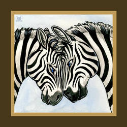 Savannah Love - Zebras by TaniDaReal