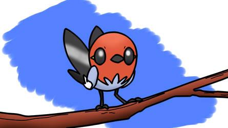 Day 6 - Winged singer on tree by KunYKA