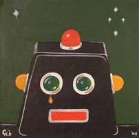 sad robot by gibsart