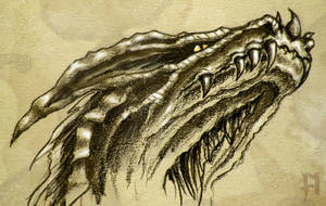 dragon head study II by theDeathspell